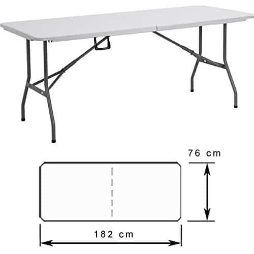 Partytisch buffettisch klappbar kunststoff top - Leroy merlin table pliante ...